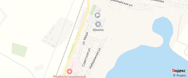 Переулок Бабушкина на карте села Зензели Астраханской области с номерами домов