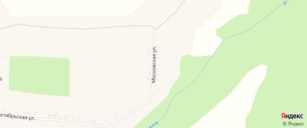 Московская улица на карте села Новые Айбеси с номерами домов