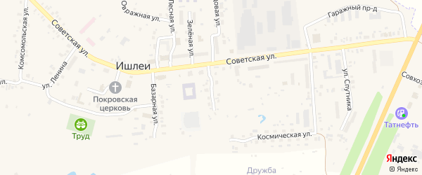 Стадионная улица на карте села Ишлеи Чувашии с номерами домов