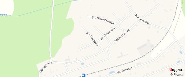 Улица Чапаева на карте поселка Буинска Чувашии с номерами домов