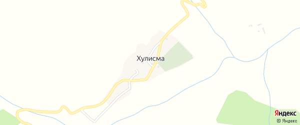 Улица 1 Линия на карте села Хулисмы Дагестана с номерами домов