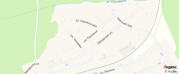 Улица Пушкина на карте поселка Буинска Чувашии с номерами домов