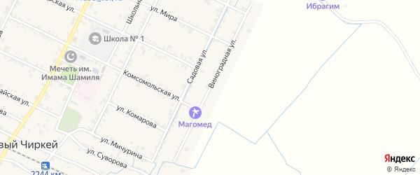 Виноградная улица на карте села Нового Чиркея с номерами домов