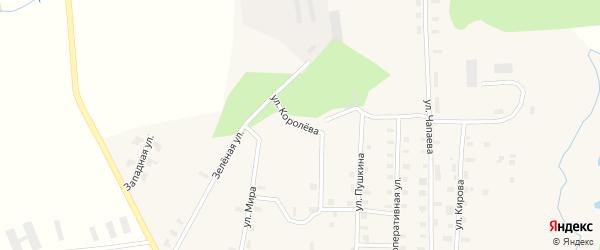 Улица Королева на карте Новотроицкого села Кировской области с номерами домов