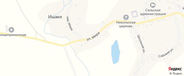 Улица Мира на карте села Ишаки с номерами домов