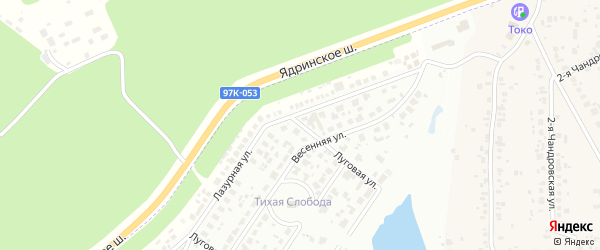 Луговая улица на карте деревни Чандрово с номерами домов