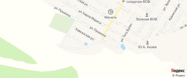 Кавказская улица на карте села Учкента Дагестана с номерами домов