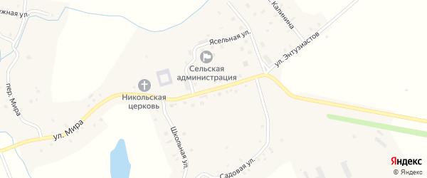 Центральная улица на карте села Ишаки с номерами домов