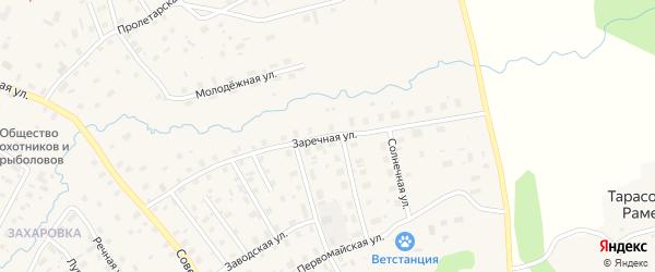 Заречная улица на карте поселка Подосиновца Кировской области с номерами домов