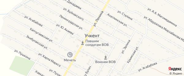 Улица Акмурзаева М.А. на карте села Учкента Дагестана с номерами домов