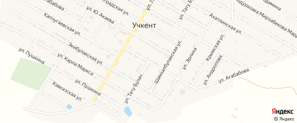 Улица Т.Булач на карте села Учкента Дагестана с номерами домов