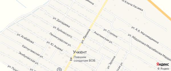 Улица Ленина на карте села Учкента Дагестана с номерами домов