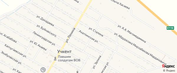 Ахатлинская улица на карте села Учкента Дагестана с номерами домов