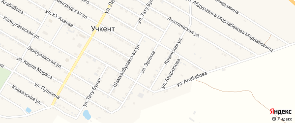 Улица Эрлиха на карте села Учкента Дагестана с номерами домов