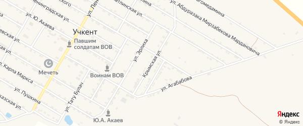 Крымская улица на карте села Учкента Дагестана с номерами домов