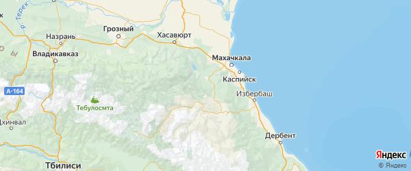 Карта Буйнакского района Республики Дагестана с городами и населенными пунктами