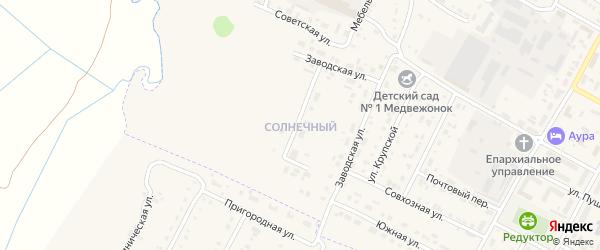 Солнечный микрорайон на карте Барыша с номерами домов