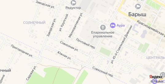 Почтовый переулок в Барыше с номерами домов на карте. Спутник и схема онлайн