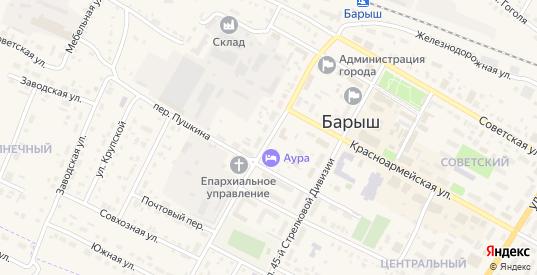 Улица Тростинского в Барыше с номерами домов на карте. Спутник и схема онлайн