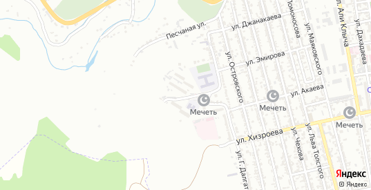 Жилмассив Западный микрорайон в Буйнакске с номерами домов на карте. Спутник и схема онлайн