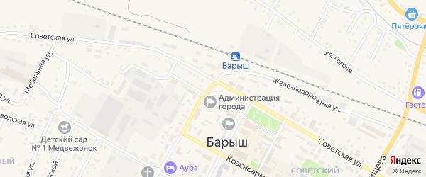 Микрорайон им И.В.Седова на карте Барыша с номерами домов