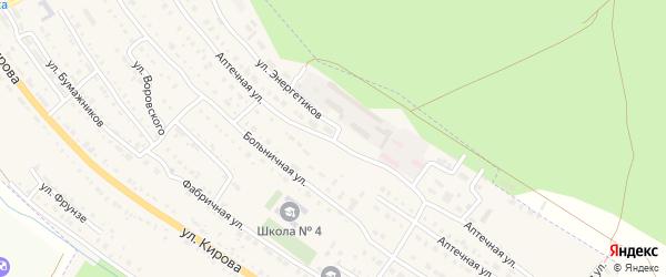 Аптечная улица на карте Барыша с номерами домов