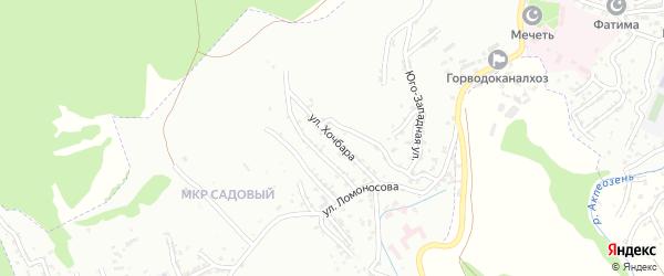 Улица Хочбара на карте Буйнакска с номерами домов