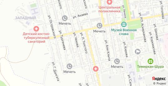 Улица Л.Толстого в Буйнакске с номерами домов на карте. Спутник и схема онлайн