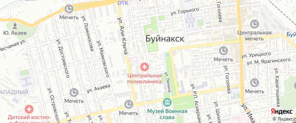 Улица Шихсаидова на карте Буйнакска с номерами домов