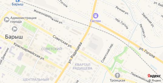 Улица Радищева в Барыше с номерами домов на карте. Спутник и схема онлайн