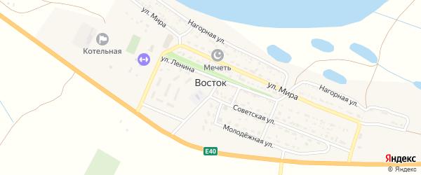 Советский переулок на карте села Востока Астраханской области с номерами домов
