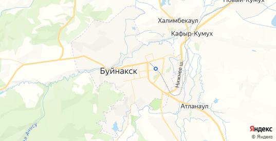 Карта Буйнакска с улицами и домами подробная. Показать со спутника номера домов онлайн