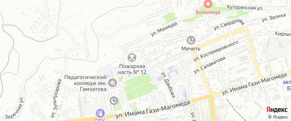 Улица Крылова на карте Буйнакска с номерами домов