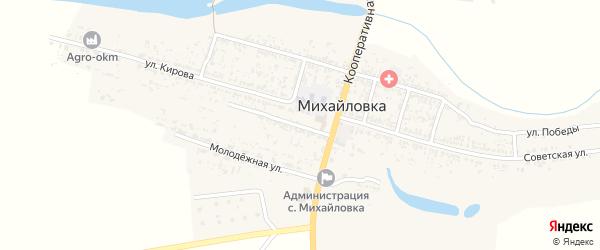 Театральная улица на карте села Михайловки Астраханской области с номерами домов