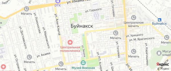 Улица Халилбека Мусаясула на карте Буйнакска с номерами домов