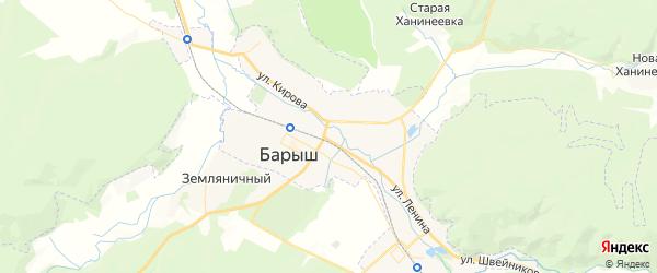 Карта Барыша с районами, улицами и номерами домов