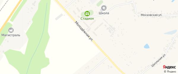 Молодежная улица на карте деревни Большие Катраси Чувашии с номерами домов