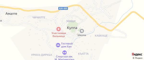 Центральная улица на карте села Куппы Дагестана с номерами домов