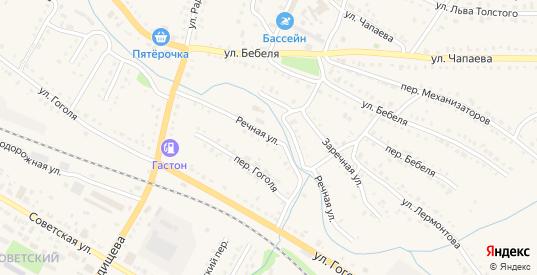 Речная улица в Барыше с номерами домов на карте. Спутник и схема онлайн