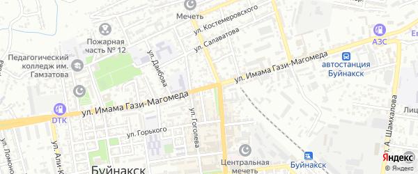 Улица Имама Гази-Магомеда на карте Буйнакска с номерами домов