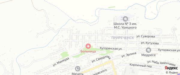 Улица Макарова на карте Буйнакска с номерами домов