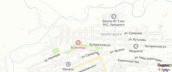 Улица Ушакова на карте Буйнакска с номерами домов