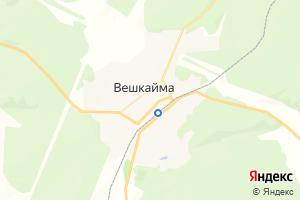 Карта пгт Вешкайма Ульяновская область
