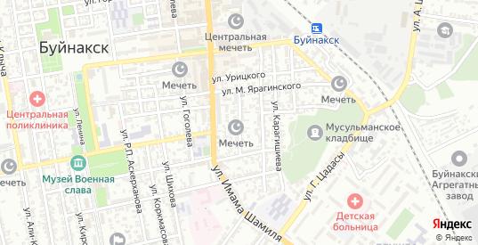 Улица Хуршилова в Буйнакске с номерами домов на карте. Спутник и схема онлайн