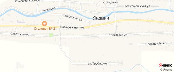 Советская улица на карте села Яндыки с номерами домов