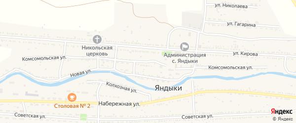 Комсомольская улица на карте села Яндыки с номерами домов