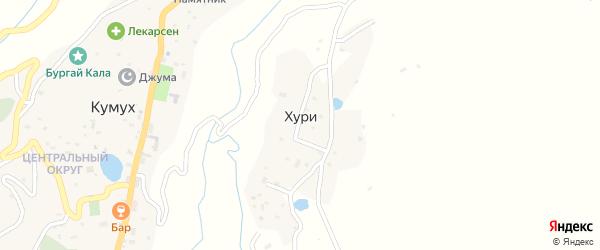 Северная улица на карте села Хури Дагестана с номерами домов