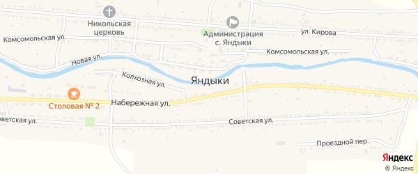 Тихий переулок на карте села Яндыки с номерами домов