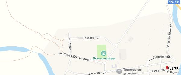 Звездная улица на карте села Басы Астраханской области с номерами домов