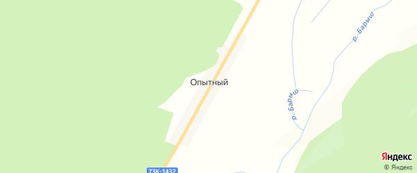 Карта Опытного поселка в Ульяновской области с улицами и номерами домов